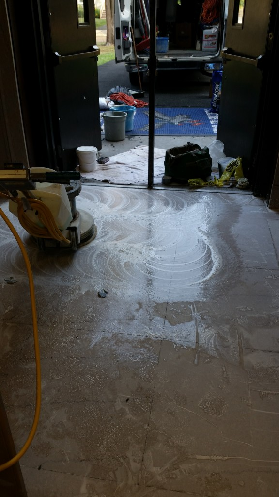 Taking the Time to Prep the Marble Restoration Area